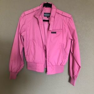 Members Only pink cropped bomber jacket